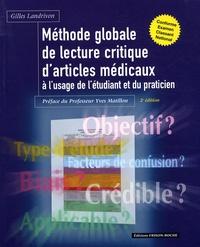 Gilles Landrivon - Méthode globale de lecture critique d'articles médicaux à l'usage de l'étudiant et du praticien.