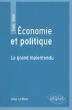 Gilles Le Blanc - Economie et politique - Le grand malentendu.