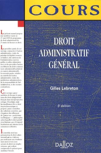 Droit administratif général 5e édition