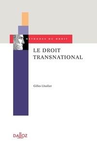 Gilles Lhuilier - Le droit transnational.