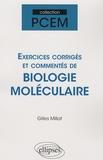 Gilles Millat - Exercices corrigés de Biologie Moléculaire.