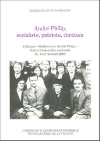 """Gilles Morin et Christian Chevandier - André Philip, socialiste, patriote, chrétien - Colloque """"Redécouvrir André Philip"""" tenu à l'Assemblée nationale les 13 et 14 mars 2003."""