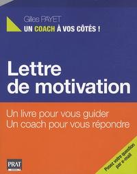 Gilles Payet - Lettre de motivation.