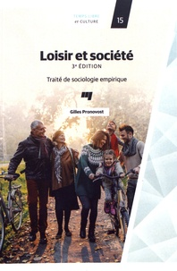 Gilles Pronovost - Loisir et société - Traité de sociologie empirique.