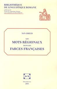 Gilles Roques - Les mots régionaux dans les farces françaises - Etude lexicologique sur le recueil Tissier (1450-1550). 1 Cédérom