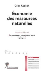 Gilles Rotillon - Economie des ressources naturelles.