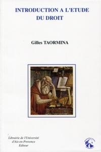 Gilles Taormina - Introduction à l'étude du droit.
