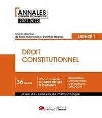 Gilles Toulemonde et Dorothée Reignier - Droit constitutionnel.