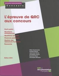 Gilles Toulemonde - L'épreuve de QRC aux concours.