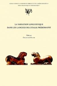 Gilles Van Heems - La variation linguistique dans les langues de l'Italie préromaine.