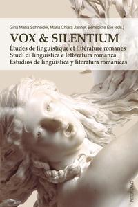 Birrascarampola.it Vox & Silentium - Etudes de linguistique et littérature romanes Image