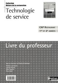 Deedr.fr Technologie de service CAP Restaurant 1re et 2e années - Livre du professeur Image