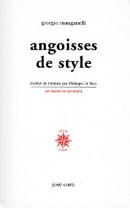 Giorgio Manganelli - Angoisses de style.