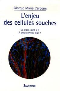 Giorgio-Maria Carbone - L'enjeu des cellules souches - De quoi s'agit-il ? A quoi servent-elles ?.
