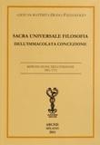 Giovan Battista Diana Paleologo - Sacra universale filosofia dell'immacolata concezione.
