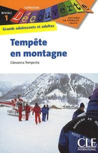 Giovanna Tempesta - Tempête en montagne - Niveau 1.