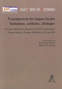 Giovanni Agresti et Michele De Gioia - L'enseignement des langues locales - Institutions, méthodes, idéologies.