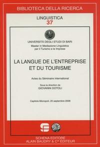 Giovanni Dotoli - La langue de l'entreprise et du tourisme - Actes du Séminaire international.