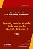 GIS-GRALE-CNRS - Education, formation, recherche : quelle place pour les collectivités territoriales ?.