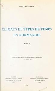 Gisèle Escourrou - Climats et types de temps en Normandie (2).