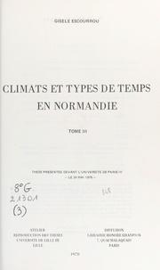 Gisèle Escourrou - Climats et types de temps en Normandie (3).