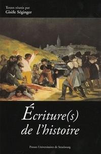 Gisèle Séginger et Paule Petitier - Ecriture(s) de l'histoire.