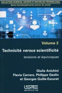 Giulia Anichini et Flavia Carraro - Technicité versus scientificité - Tensions et équivoque.