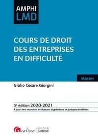 Giulio Cesare Giorgini - Cours de droit des entreprises en difficulté.