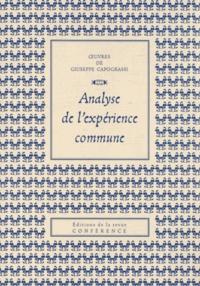 Giuseppe Capograssi - Analyse de l'expérience commune.