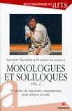 Giuseppe Manfridi et Flaminia Iacoviello - Monologues et soliloques - Volume 2, 50 tirades du répertoire contemporain pour actrices en solo.