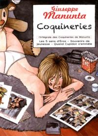 Giuseppe Manunta - Coquineries - Coffret 3 volumes : Les 5 sens d'Eros ; Souvenirs de jeunesse ; Quand Cupidon s'emmèle.