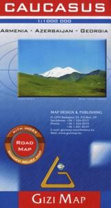 Gizi Map - Caucasus. Armenia, Azerbaijan, Georgia - 1/1 000 000.