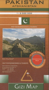 Gizi Map - Pakistan Afghanistan - 1/2 000 000.