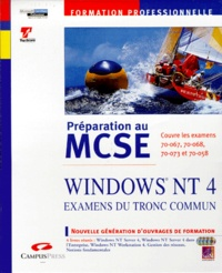 Histoiresdenlire.be PREPARATION AU MCSE COFFRET 4 VOLUMES WINDOWS NT 4. Examens du tronc commun Image