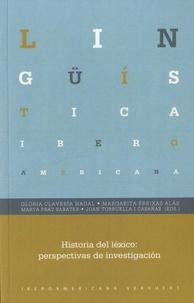 Gloria Clavería - Historia del léxico - Perspectivas de investigación.