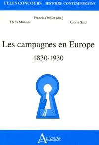 Gloria Sanz et Francis Démier - Les campagnes en Europe, 1830-1930.