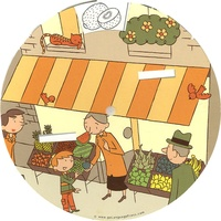Go Language Press - Kids Wheel Fruits-Vegetables.