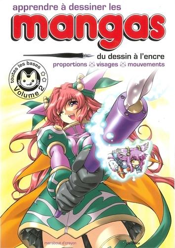 Apprendre à dessiner les mangas. Volume 2, Du dessin à l'encre