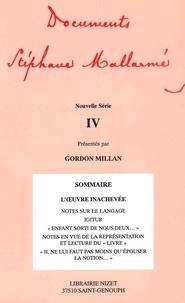 Gordon Millan et Stéphane Mallarmé - Documents Stéphane Mallarmé - Tome 4 Nouvelle Série.