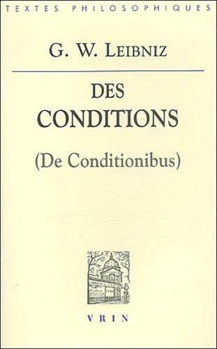 Gottfried-Wilhelm Leibniz - Des conditions 5 (De Conditionibus).