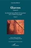 Gracchus Babeuf - OEuvres (Grachus Babeuf) Volume II - Le Journal de la liberté de la presse et Le Tribun du peuple - Tome 2.