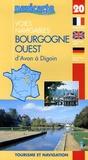 Grafocarte - Les voies navigables de la Bourgogne Ouest d'Avon à Digoin - Par les canaux du Loing, de Biare, latéral à la Loire, l'Yonne et le canal du Nivernais.