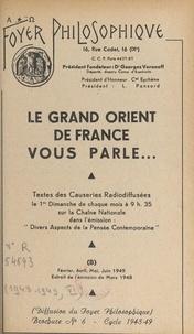 Grand Orient de France et Georges Voronoff - .