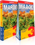 Grazyna Hanaf - Maroc - Guide + Atlas + Carte routière 1/1 500 000.
