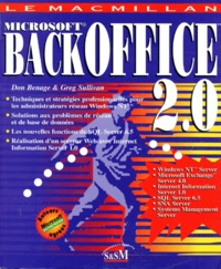 Greg Sullivan et Don Benage - Microsoft BackOffice.