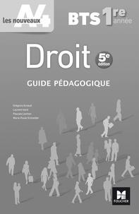 Grégoire Arnaud et Laurent Izard - Droit BTS 1re année - Guide pédagogique.