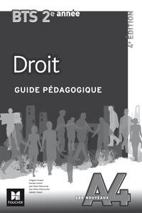 Deedr.fr Droit BTS 2e année Les Nouveaux A4 - Guide pédagogique Image