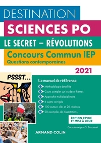 Grégory Bozonnet et Pascal Bernard - Le secret-Révolutions - Concours commun IEP Questions contemporaines.
