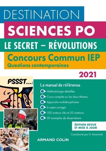 Le secret-Révolutions. Concours commun IEP Questions contemporaines  Edition 2021