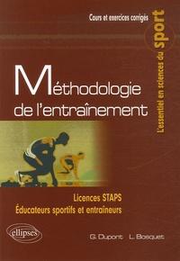 Grégory Dupont et Laurent Bosquet - Méthodologie de l'entraînement.